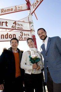 Kronprinsesse Victoria, kronprins Frederik og kronprins Haakon