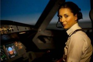 kvindelig pilot