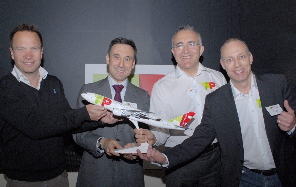 TAP Air Portugal, Stig Sommerfeldt Kaspersen, ambassadør Rui Macieira, Joao Morais og Henrik Nielsen