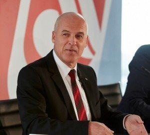 airberlins nye koncernchef, Stefan Pichler, under tirsdagens pressemøde.