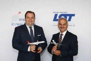 Sebastian Mikosz, LOT Polish Airlines CEO og Temel Kotil Ph.D, CEO for Turkish Airlines.