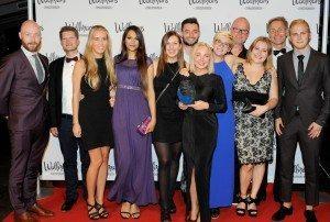 Der er intet foto af alle vinderne ved Årets Partnergalla i Cirkusbygningen, men her vinderne af prisen: Årets Bureau: CEC - Copenhagen Event Company.