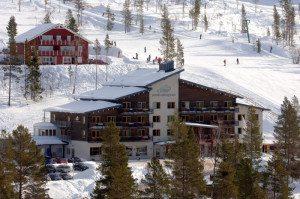 I Idre Fjäll har den olympiske ski-mester Pernilla Wiberg skabt et luksuriøst, specialdesignet hotel lige på pisten. Foto: Idre Fjäll