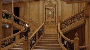 Det ikoniske trappeløb fra Titanic genskabes 1:1.