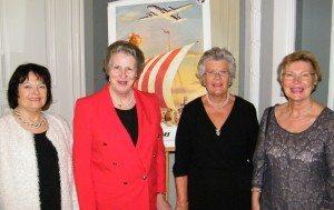 Fire bestyrelsesmedlemmer fra 'De Stækkede Vingers Klub', fra venstre Joan Avnery, formand Merete Petri, Dorthe Islef og Inger Håkonsson.
