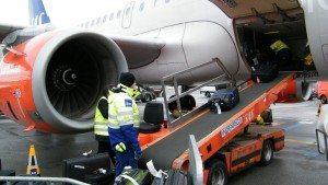 sas lufthavn handling fly bagage