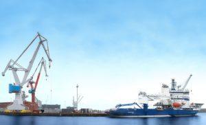 Den nye fragt- og passagerfærge skal bygges hos det finske værft Rauma Marine Constructions.