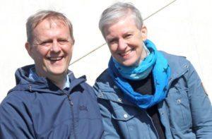 Værtsparret på Danhostel Ribe gennem 30 år Gudrun Rishede og Jens Philipsen.