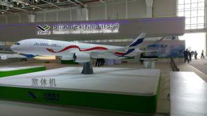 Model af den kommende flytype på Airshow China.