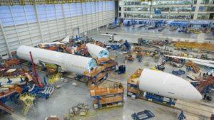 Den første B787-10 samles på Boeings North Charleston, South Carolina samlefabrik.