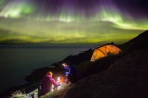 Nordlys i Lofoten. Foto: Alex Conu/Visit Norway