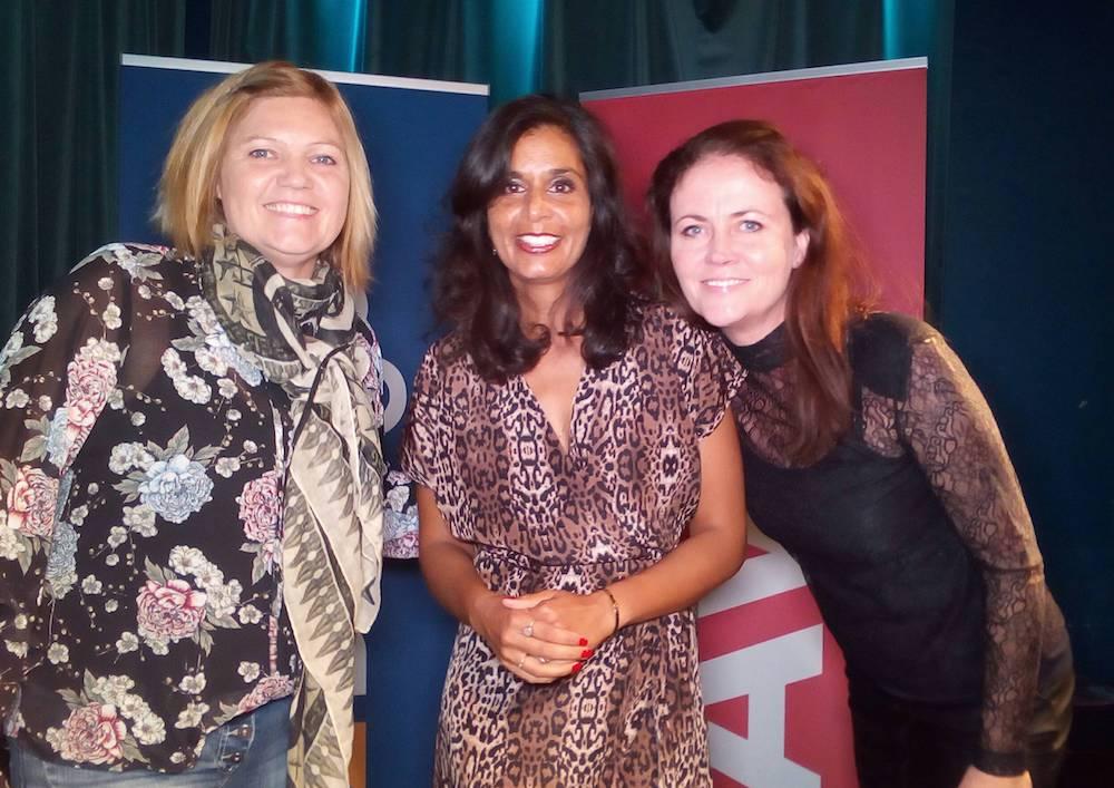 Tina, Anja og Nina fra henholdsvis Salg og Film-team I Avis/Budget.