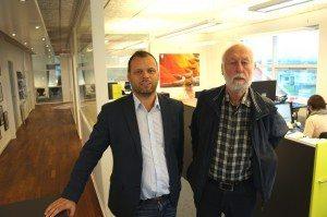 Bureauchef Michael Bach Andersen, Ans Rejser, Silkeborg og den nye medarbejder, Thomas Berntsen.