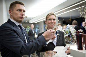 Koncerndirektør Peter Schelde og hoteldirektør Mette Bonderup.