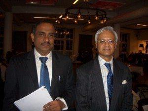 Den indiske ambassadør i Danmark, Niraj Srivastava, til højre, med Sheik Pareeth, direktør for Kerala Tourism.