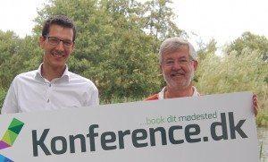 Rasmus Teilmann, til venstre, fra Info-Connect etablerer sammen med Christian Guldager fra Kursuslex Danmarks største bookingsite for møder og konferencer.