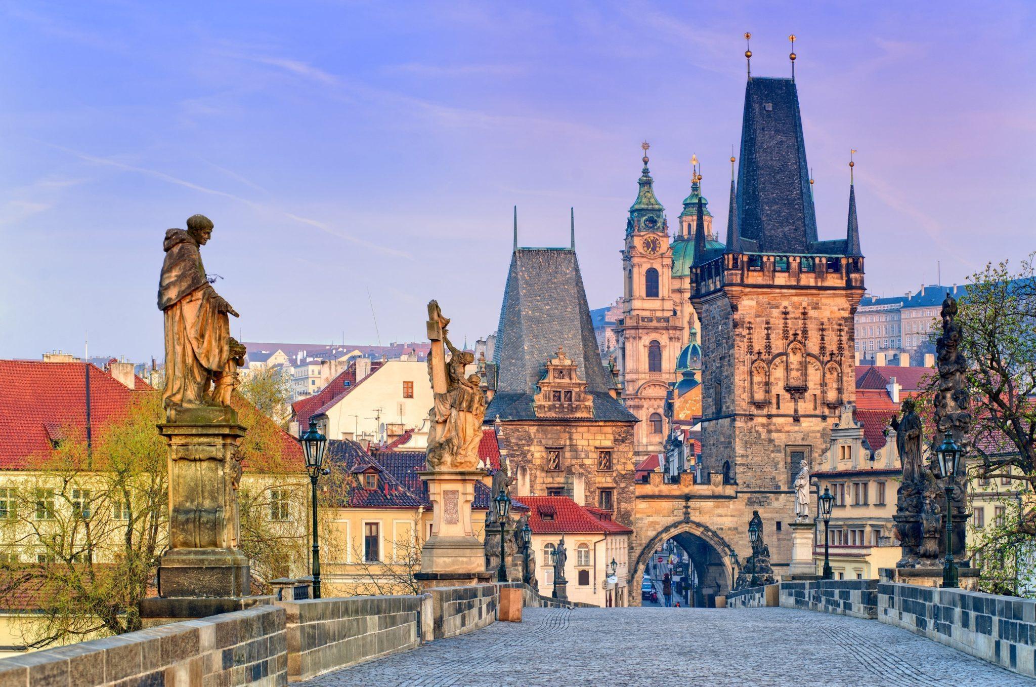 Arkivfoto fra den tjekkiske hovedstad, Prag.