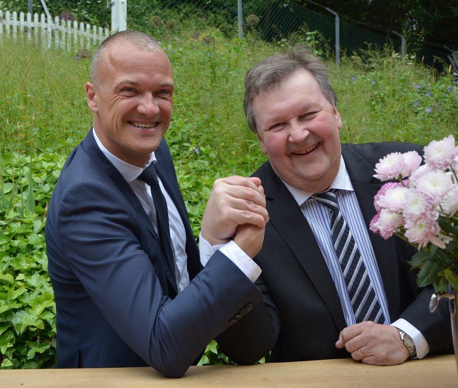 Bo Schou Lauridsen, til venstre, og Bernd Hässler. Foto: Preben Pathuel