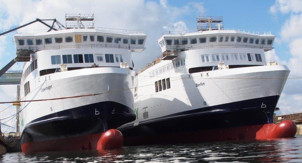 Færgerne Copenhagen og Berlin er blandt de nyeste i Scandlines' flåde. Arkivfoto fra Scandlines.