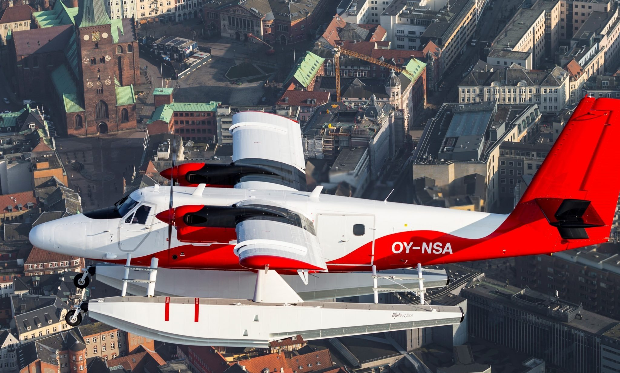 Nordic Seaplanes vandflyver over Aarhus. Foto: Nordic Seaplanes.