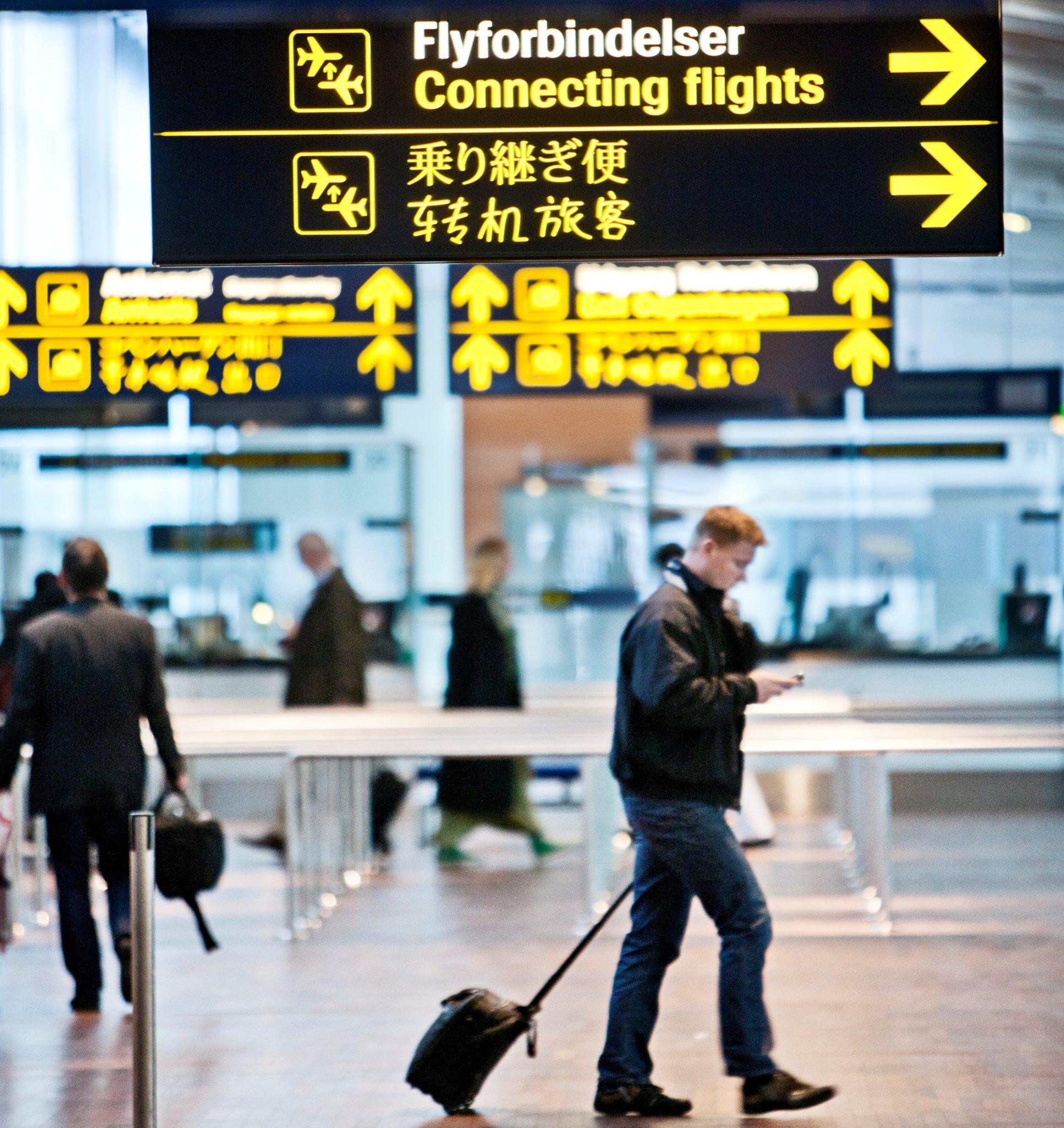Transit i lufthavnene kan vare længere end beregnet. Arkivfoto.