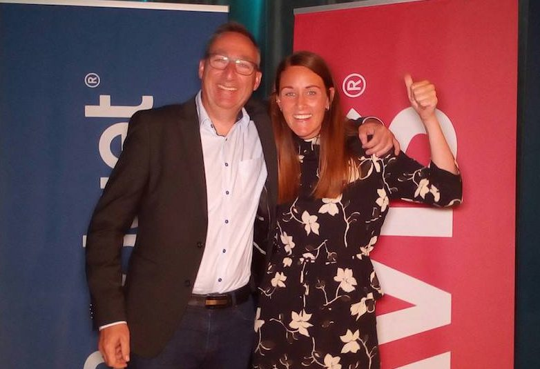 Claus Hansen, Fleet & Operations Manager, og Janni Krarup, Marketing Coordinator, som stod for festen