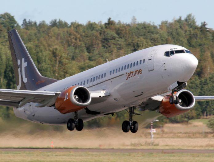 Jet Time Boeing 737. Foto: Jet Time.