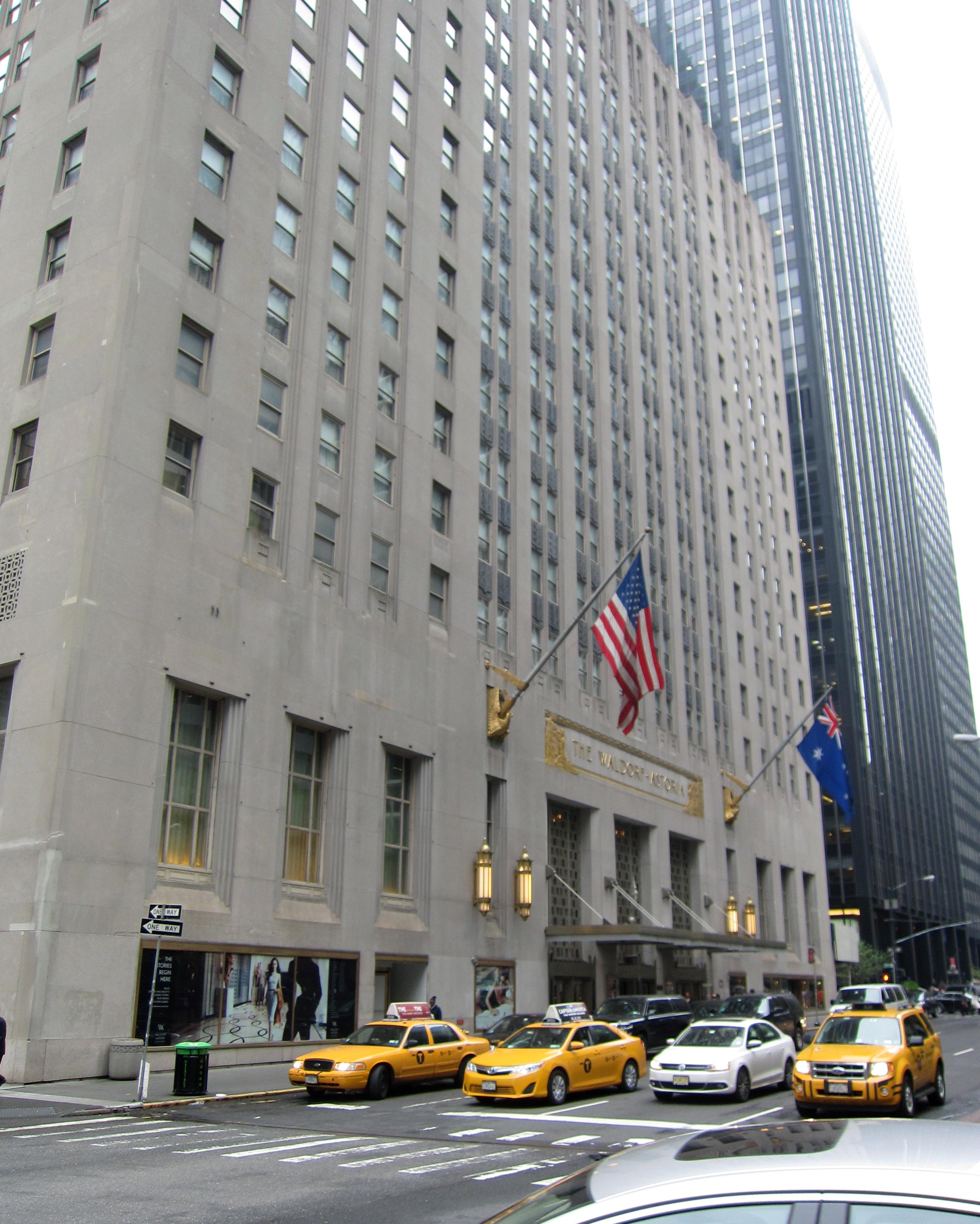 Waldorf Astoria. Arkivfoto.
