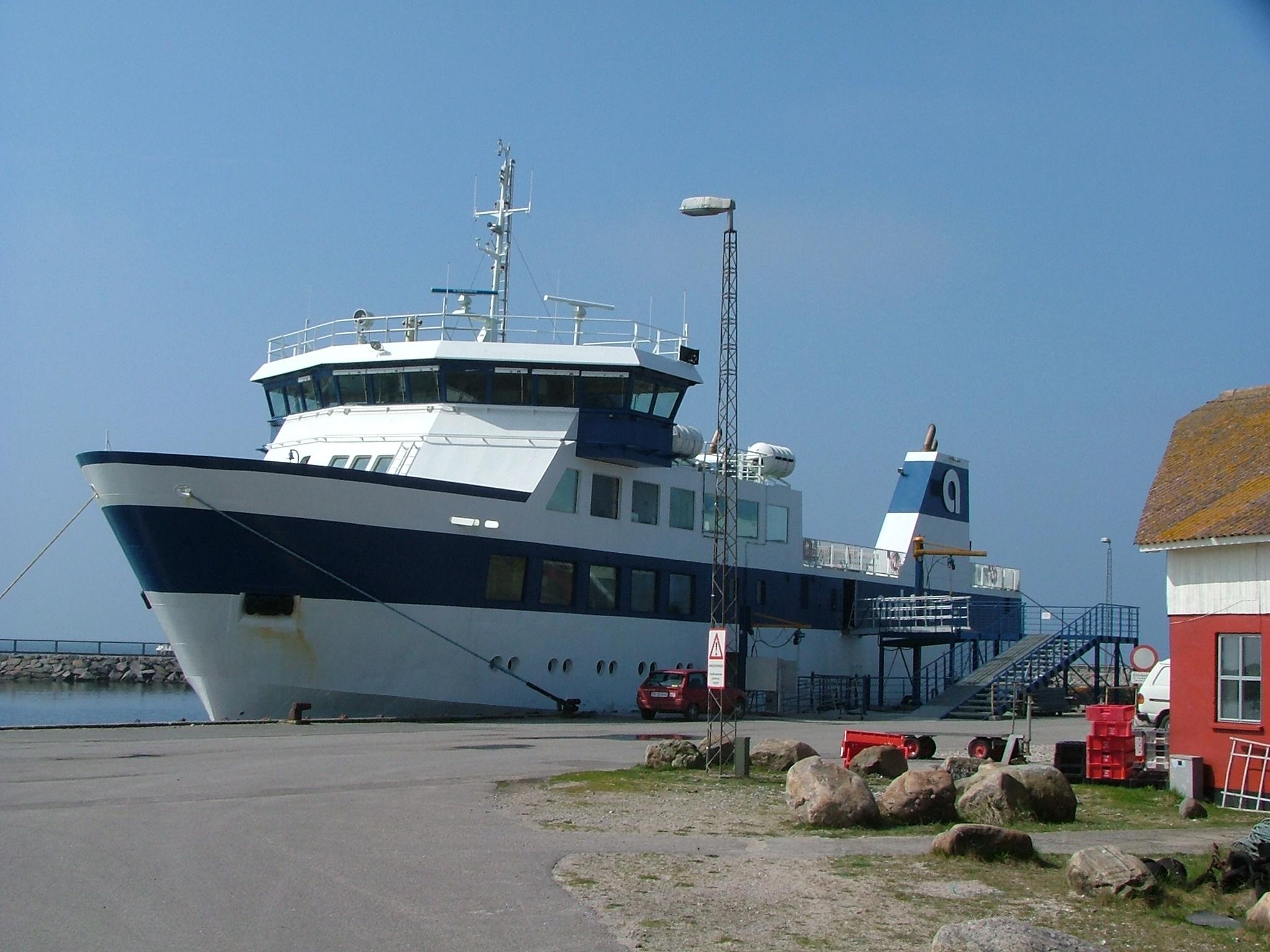 Anholt færgen får næste år en vikar, når der er behov for det. Foto: Færgesekretariatet.