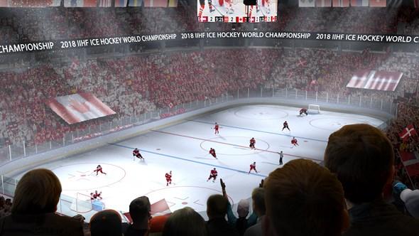 Ishockey i Jyske Bank Boxen. Foto: iihl.com