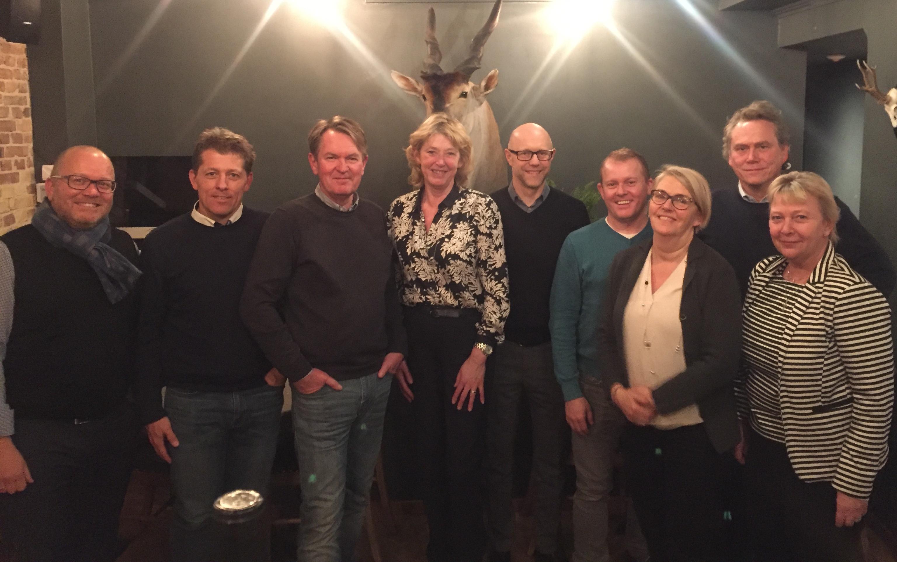 Hovedparten af Discover America Danmarks bestyrelse anno 2018.