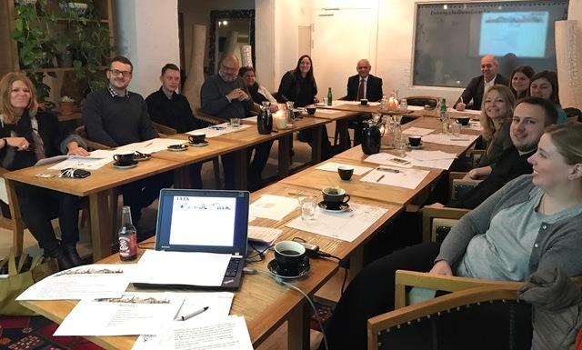 Fra årets bestyrelsesmøde hos IATA Comet klubben, privatfoto.