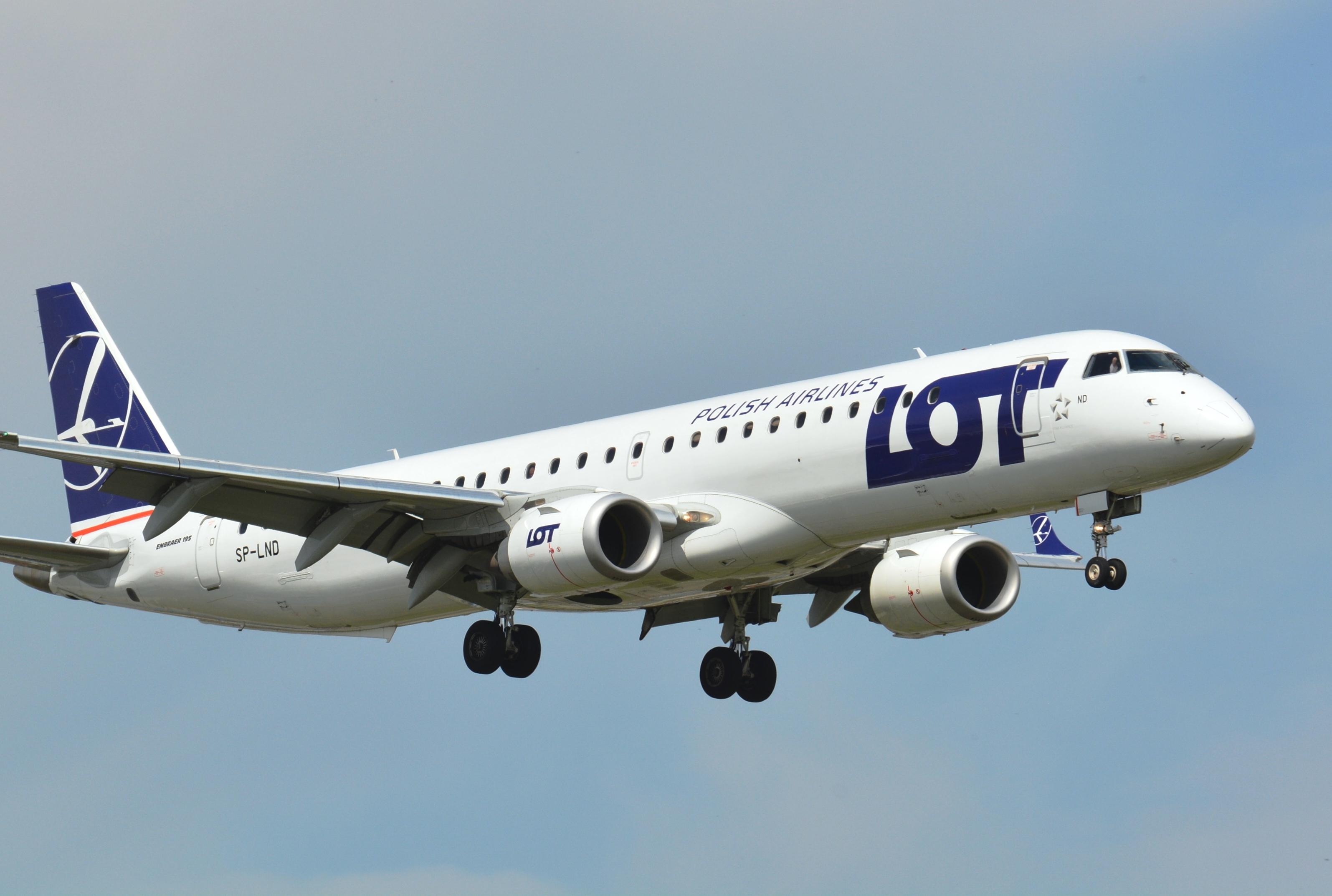 LOT vil bruge Embraer-jets på sine nye ruter til blandt andet Zaporizhzhia og Billund.