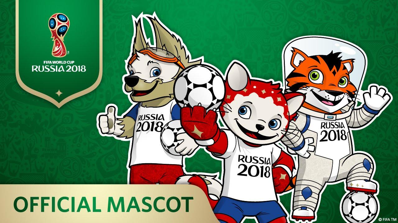 De officielle maskotter for årets VM-slutrunde i fodbold.
