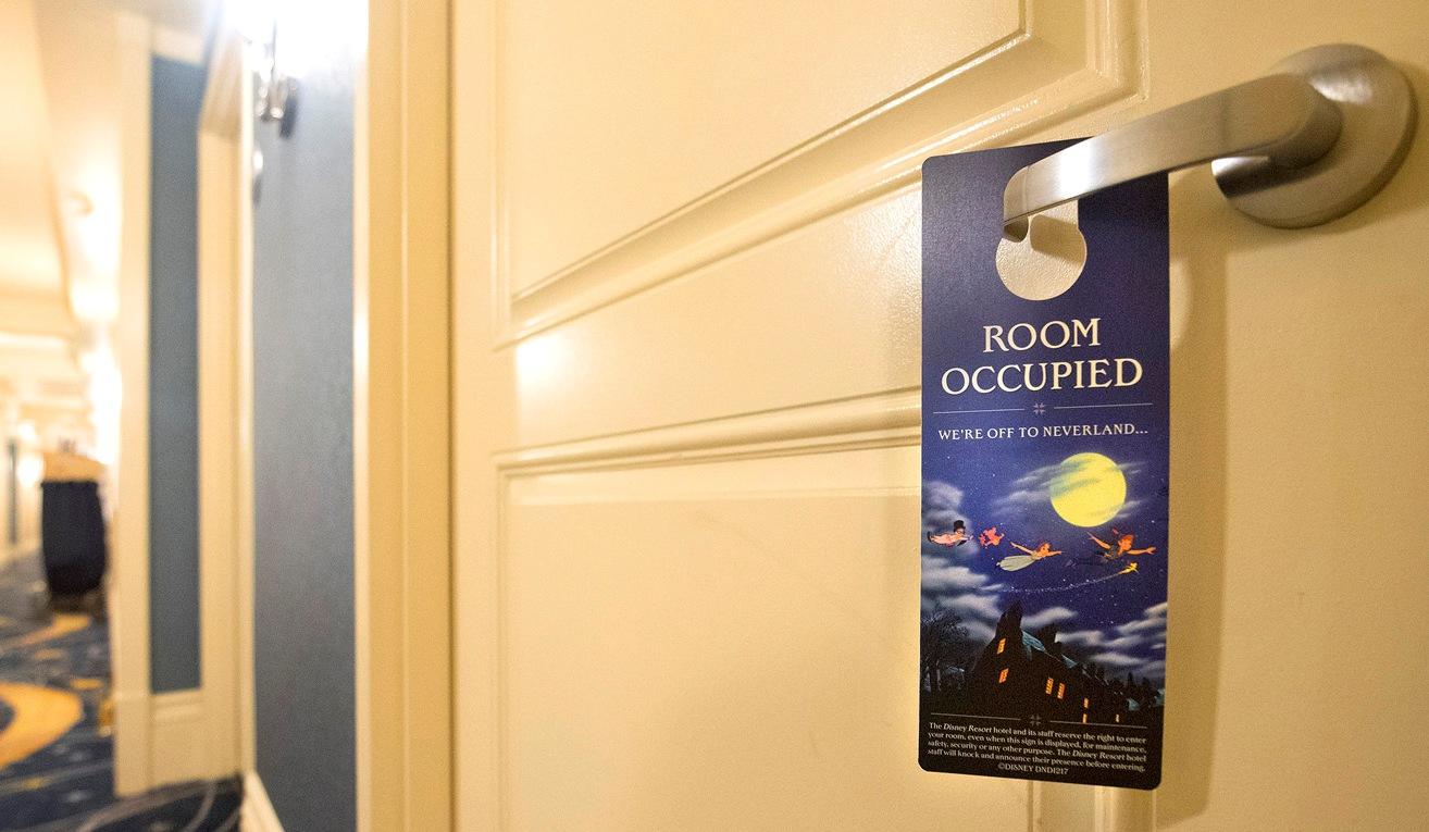 Room Occupied-skilt på Disney Hotel.