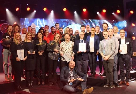 Vinderne af Møde & Event Awards 2018. Foto: Kursuslex.dk