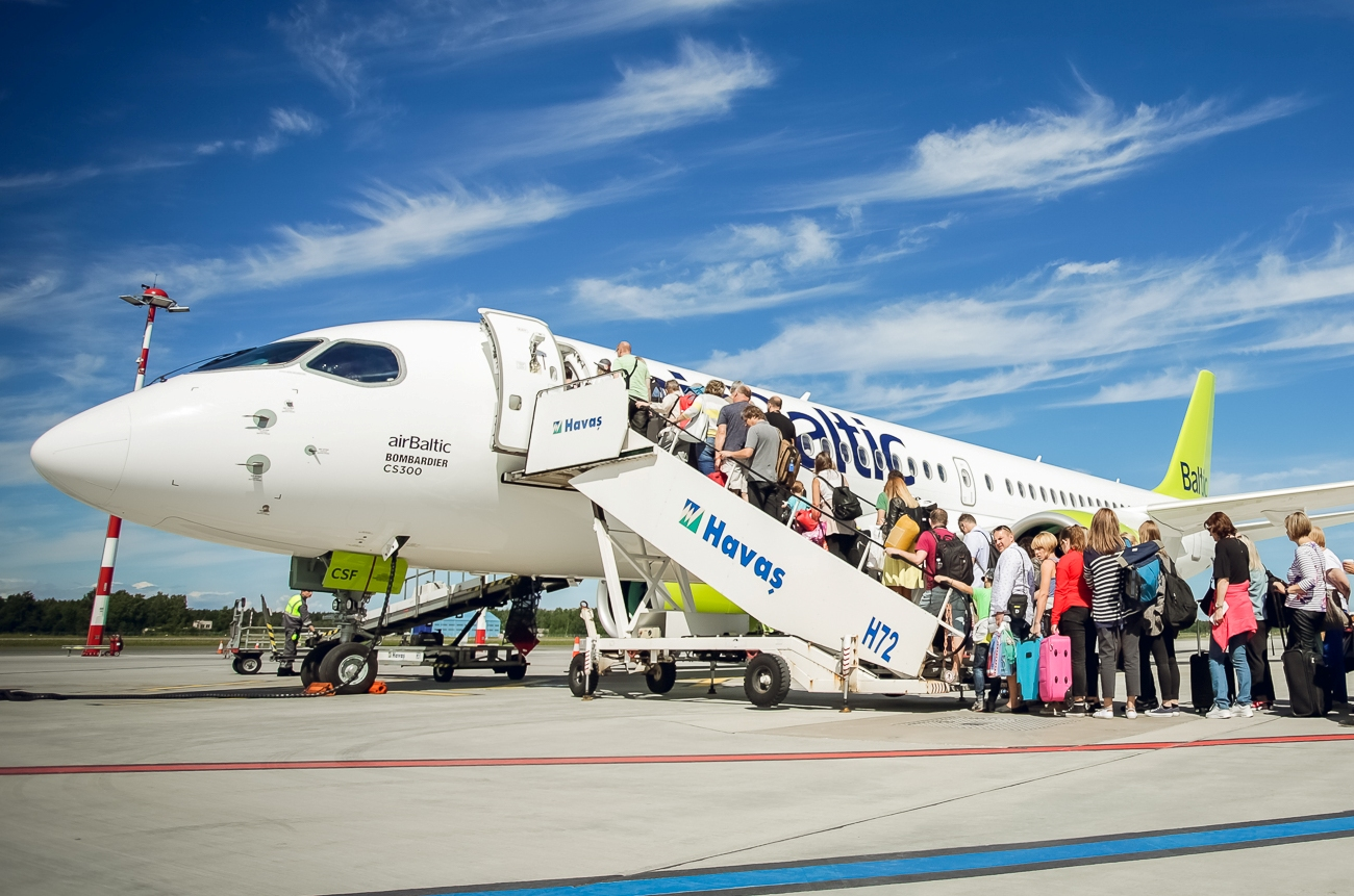 Det lettiske flyselskab airBaltic får prisen som Airline Market Leader 2018.