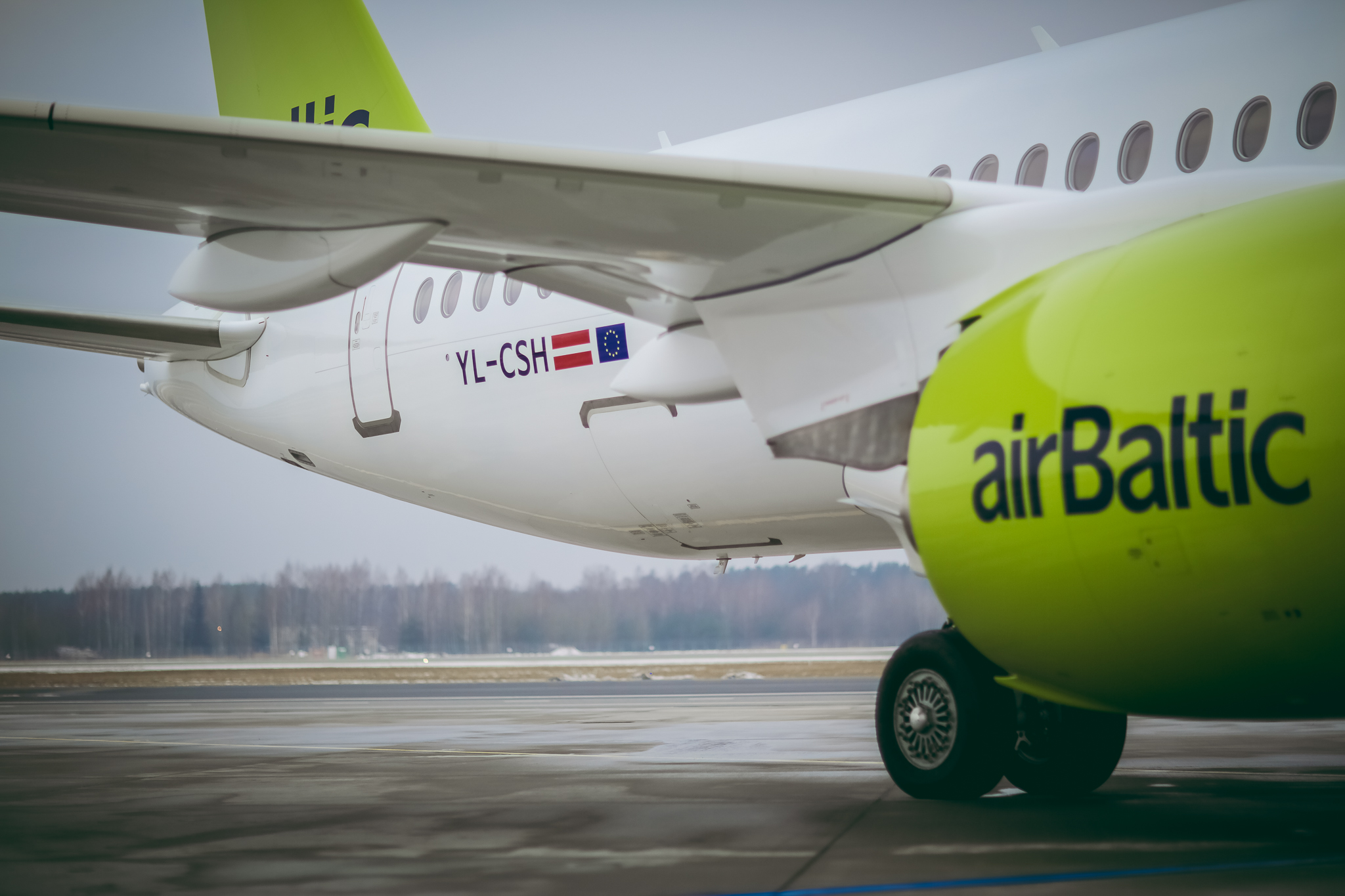 airBaltic har fået sin første CS300 i 2018. Foto: airBaltic.