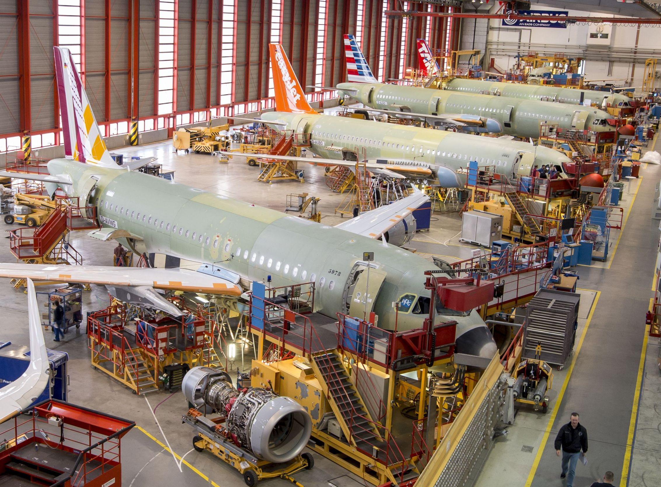 Samlefabrikken hos Airbus i sydfranske Toulouse.