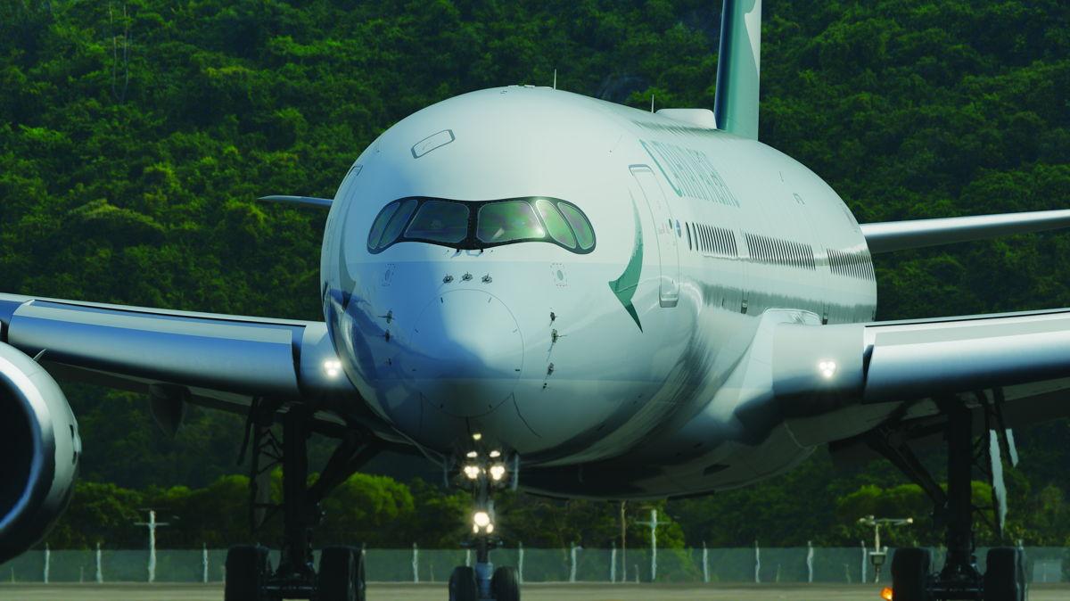 Københavns Lufthavn får onsdag sin første rute betjent med langruteflyet Airbus A350 – Cathay Pacific flyver tre gange om ugen mellem Hong Kong og København frem til 26. oktober. Foto: Cathay Pacific.