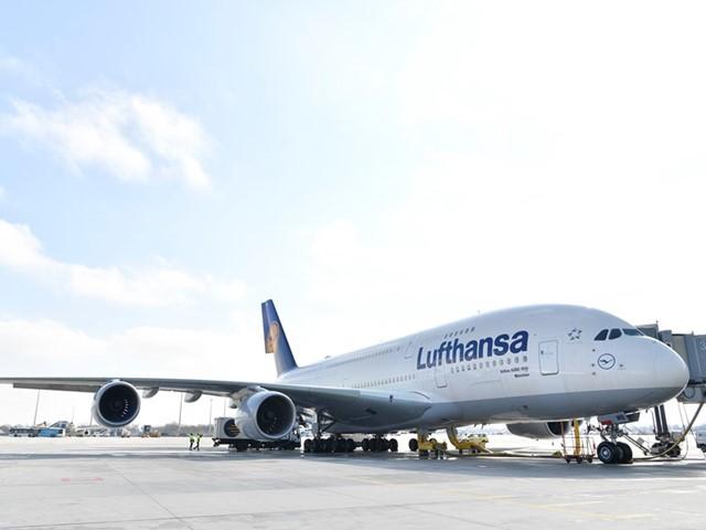 Lufthansa Airbus A380-800 ved navn München. Foto: Lufthansa.