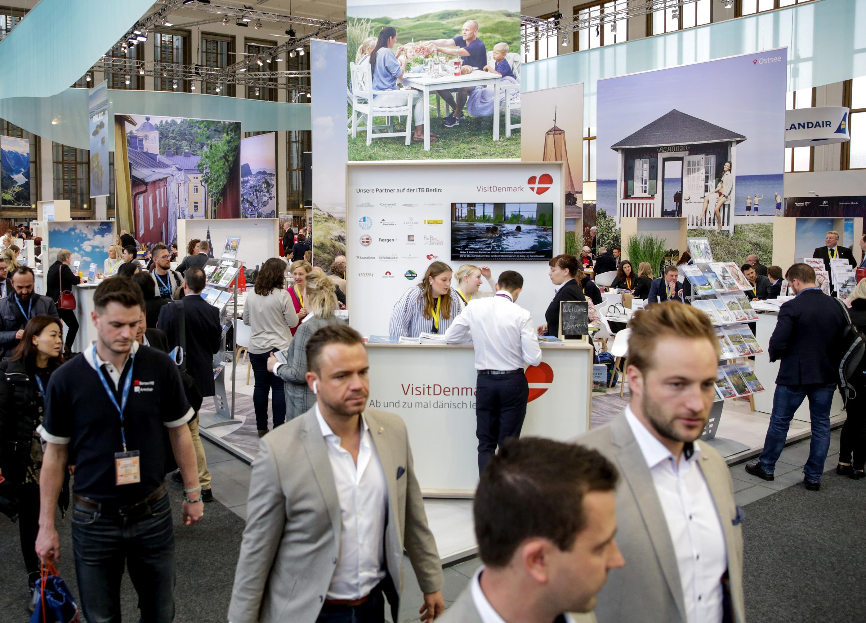 Foto fra VisitDenmarks stand under årets ITB-messe i Berlin.