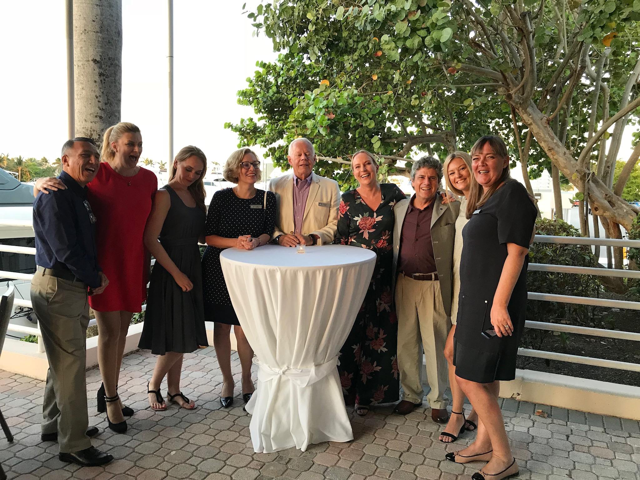 DMC`s repræsentanter på Seatrade Messen i Florida repræsenterende Danmark, Norge, Sverige, Estland og Chile med Jens Elers i midten (Foto: Privatfoto)