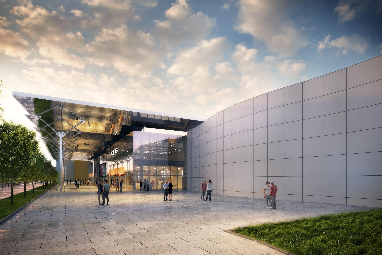 Det nye kongrescenter i Prag åbner i sommeren 2019. Foto: O2 Arena.