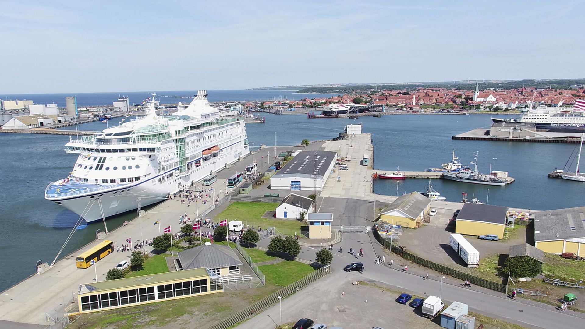 Rønne Havn. Foto: Destination Bornholm.