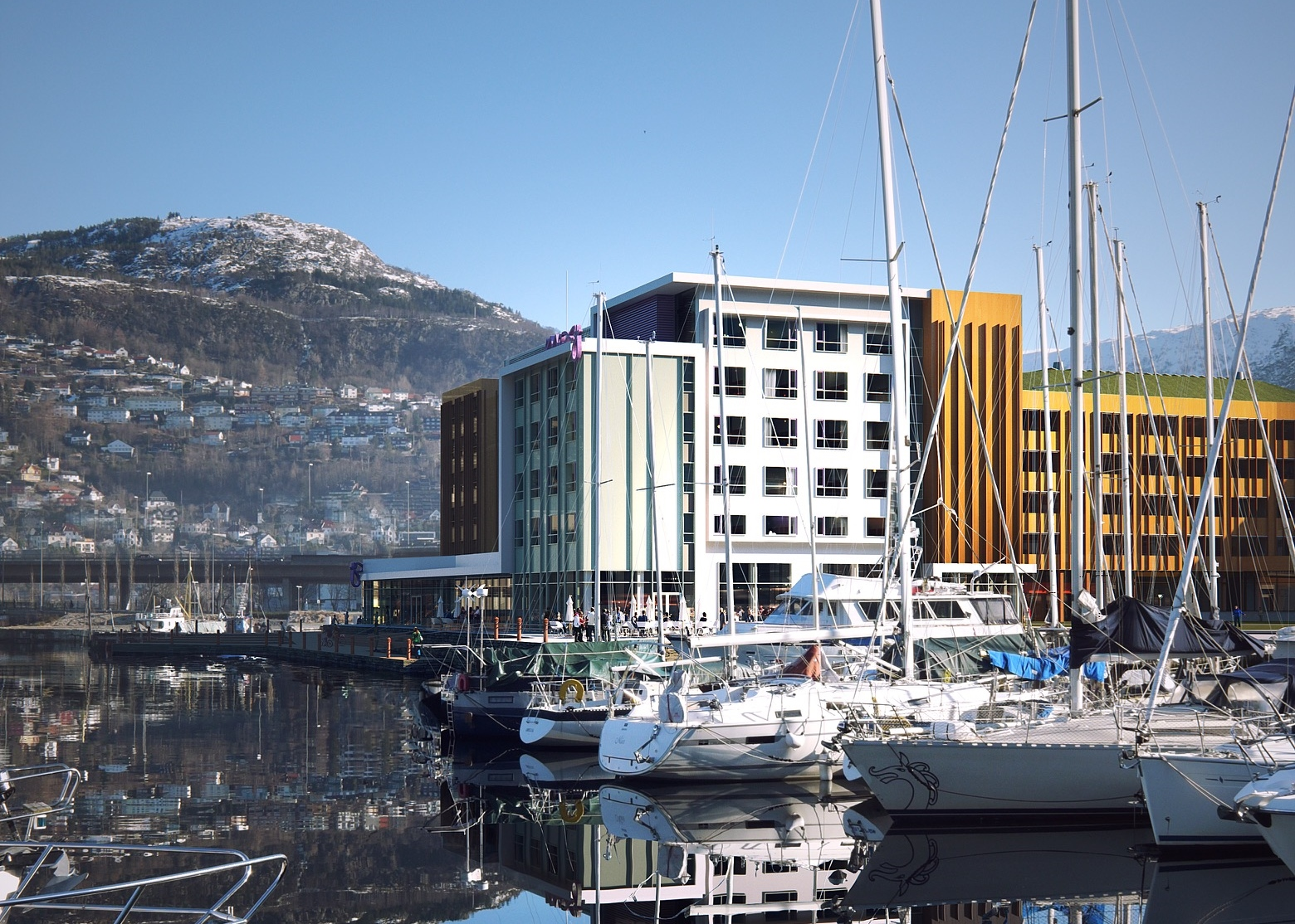 Marriott-varemærket Moxy får omkring sommeren 2020 hotel i norske Bergen. Illustration: Core Hospitality.