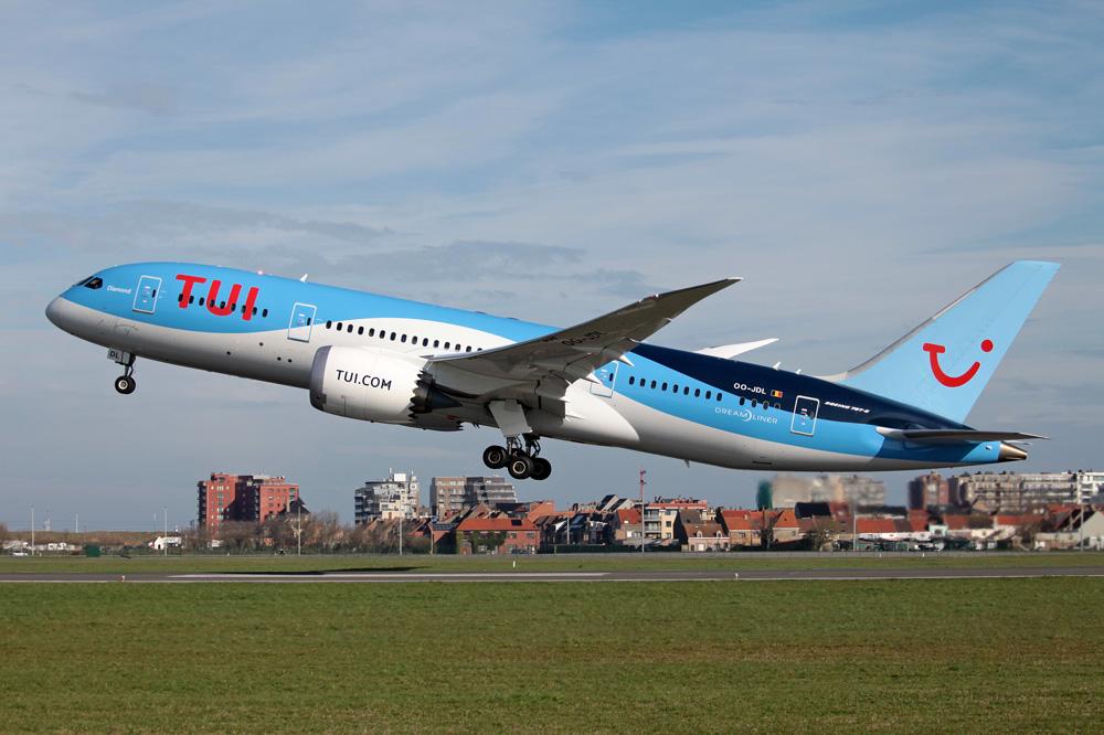 TUI sender navnlig sine kunder afsted på langruter med koncernens egne langrutefly som Boeing B787 Dreamliners – men brugen af rutefly er stigende. Foto: TUI.