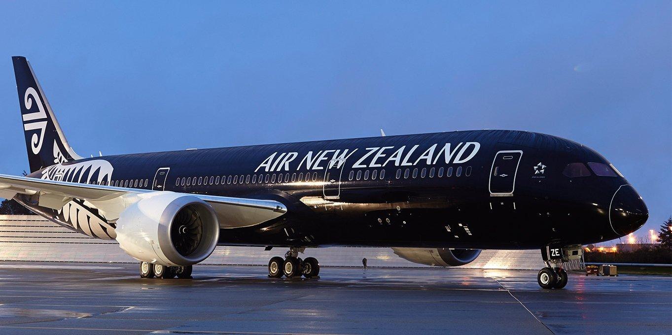 En Boeing B787-9 Dreamliner bliver typen som Air New Zealand vil indsætte på sin kommende rute til Chicago – en nonstop strækning på 13.200 kilometer. Foto: Air New Zealand.