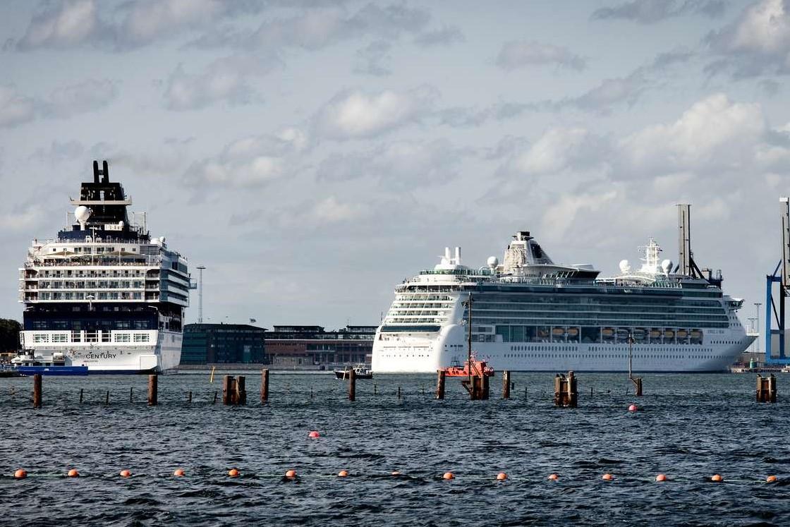 Krydstogtskibe i Københavns Havn, der i år forventer 875.000 krydstogtpassagerer. Foto: Wonderful Copenhagen.