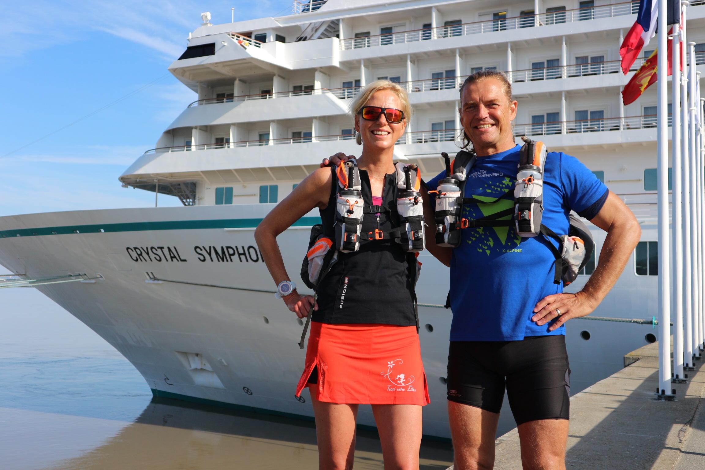 Helle Montem med sin mand Sean (Privatfoto)